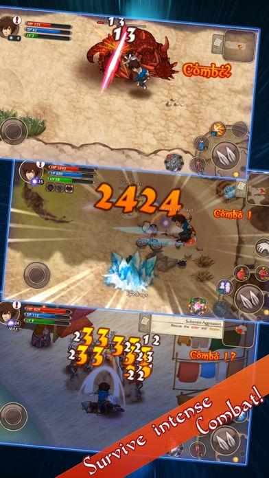 ภาพตัวอย่างแอพ RPG Djinn Caster