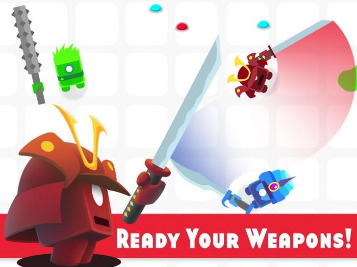 ภาพตัวอย่างแอพ Goons.io Knight Warriors
