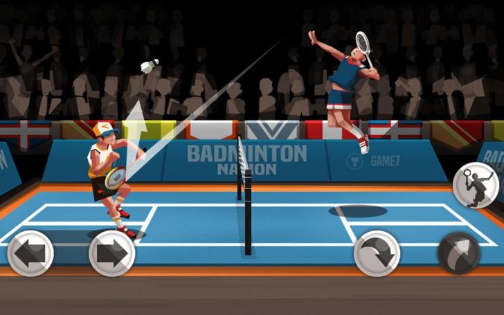 ภาพตัวอย่างแอพ Badminton League