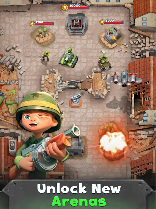 ภาพตัวอย่างแอพ War Heroes: Fun Action for Free