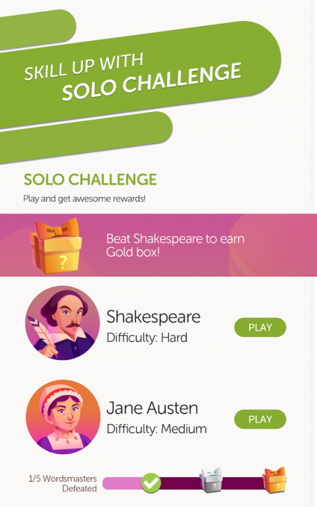 ภาพตัวอย่างแอพ Words With Friends 2 - Word Game