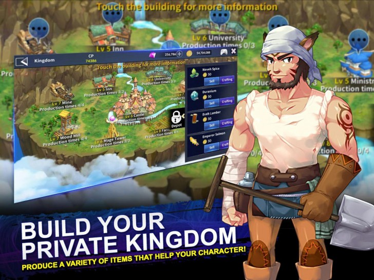 ภาพตัวอย่างแอพ IRIS M - MMORPG