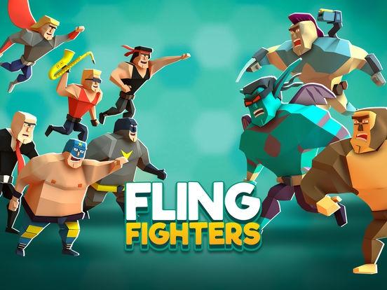 ภาพตัวอย่างแอพ Fling Fighters