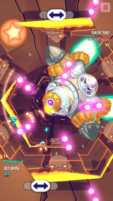 ภาพตัวอย่างแอพ Space Cycler