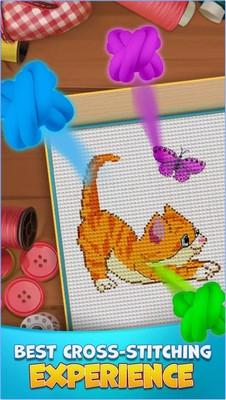 ภาพตัวอย่างแอพ Cross Stitch Mania