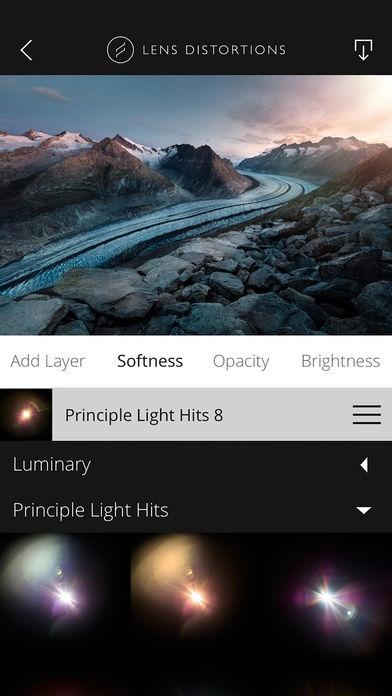 ภาพตัวอย่างแอพ Lens Distortions