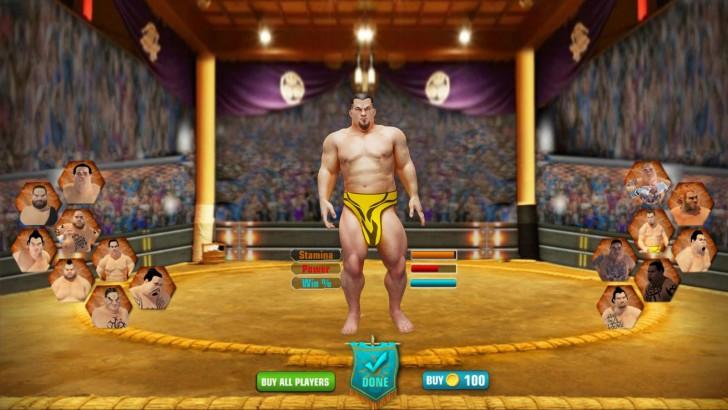 ภาพตัวอย่างแอพ Sumo Stars Wrestling 2018