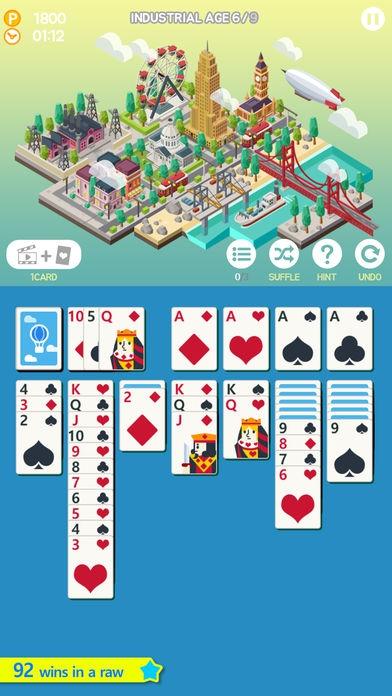 ภาพตัวอย่างแอพ Age of solitaire : Build City