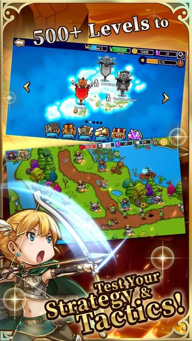 ภาพตัวอย่างแอพ Crazy Defense Heroes