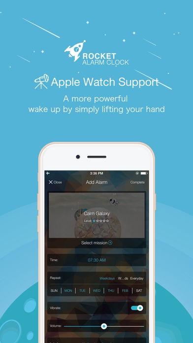 ภาพตัวอย่างแอพ Rocket Alarm - แอพนาฬิกาปลุก สุดกวน