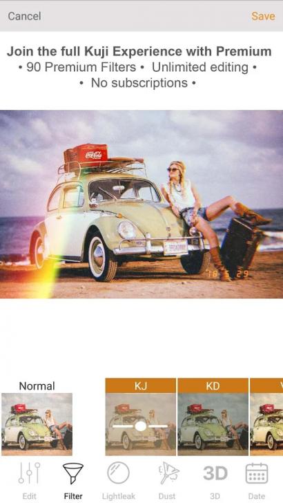 ภาพตัวอย่างแอพ Kuji Cam