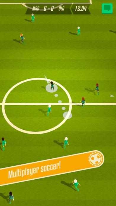 ภาพตัวอย่างแอพ Solid Soccer