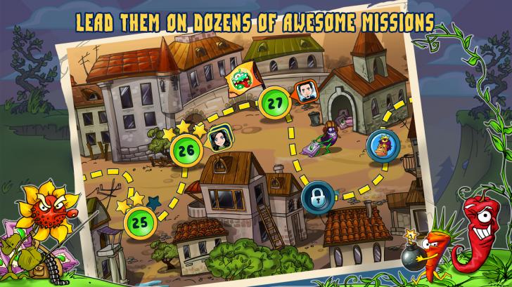 ภาพตัวอย่างแอพ Zombie Harvest