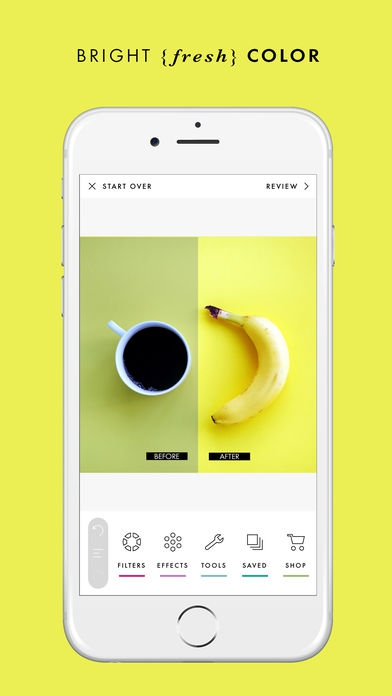 ภาพตัวอย่างแอพ A Color Story (แอพแต่งรูป)