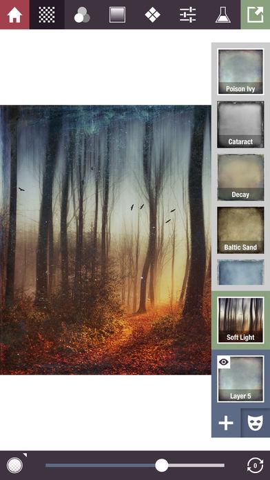 ภาพตัวอย่างแอพ Stackables - Layered Textures, Effects, and Masks