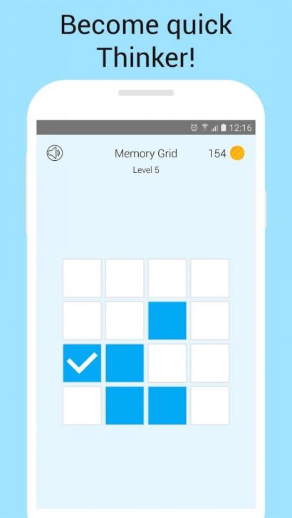 ภาพตัวอย่างแอพ Memory Games