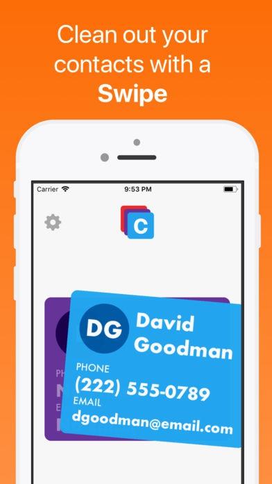 ภาพตัวอย่างแอพ Cinder - Clean Your Contacts (แอพจัดการข้อมูลผู้ติดต่อ)