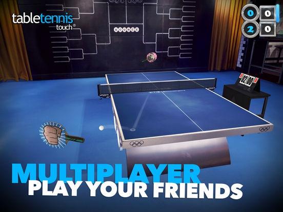 ภาพตัวอย่างแอพ Table Tennis Touch (เกมส์ตีปิงปอง 3 มิติ)