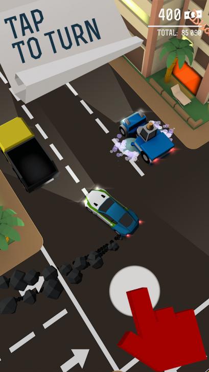 ภาพตัวอย่างแอพ Drifty Chase