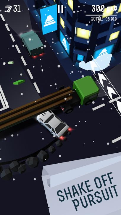 ภาพตัวอย่างแอป Drifty Chase