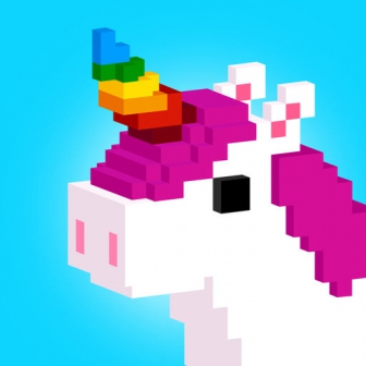UNICORN 3D - Colour by Number