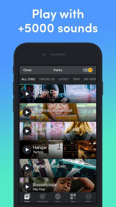 ภาพตัวอย่างแอพ Beat Snap - Music & Beat Maker