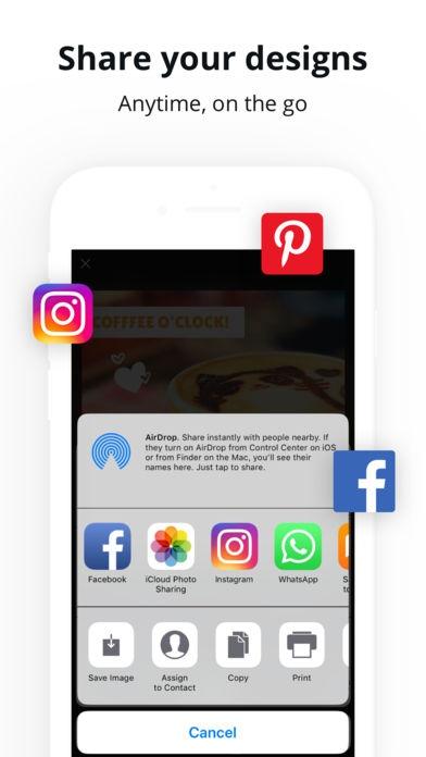 ภาพตัวอย่างแอพ Canva: Logo & invitation maker