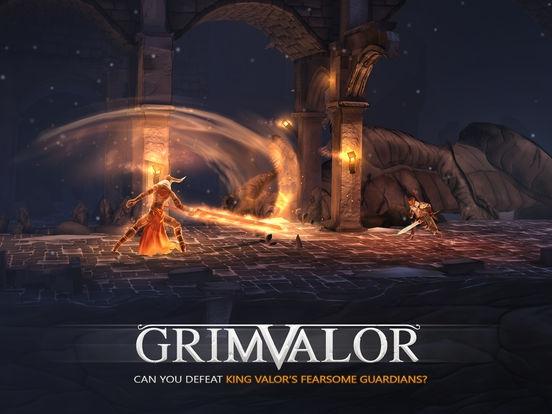 ภาพตัวอย่างแอป Grimvalor