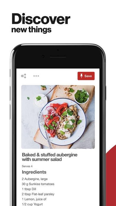 ภาพตัวอย่างแอป Pinterest: Lifestyle Ideas