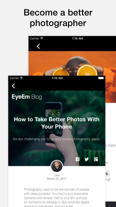 ภาพตัวอย่างแอป EyeEm - Photography