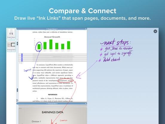 ภาพตัวอย่างแอป LiquidText
